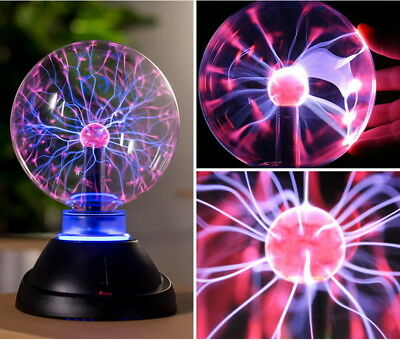 "9"" Plasma Sphere Ball Lightning Light Lamp Shine fr Holiday Party Club Bar Decor"