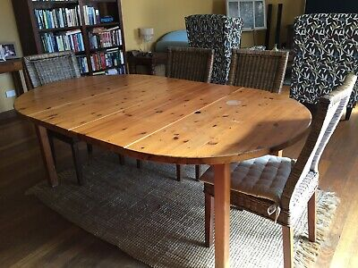 Solid Timber Expandable Dining Table Without Chairs
