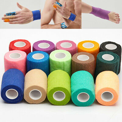 1PC Colorful Non-woven Self-adhesive Tape Waterproof Medical Therapy Bandage