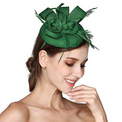 Women's Flower Feather Fascinators Races Proms Bridal Hair Accessories Wedding