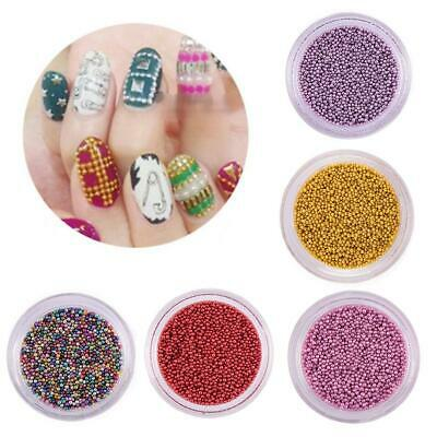 Caviar Beads Rose Gold Crystal 3D Micro Ball Pixie Nail Art Decoration Glass New