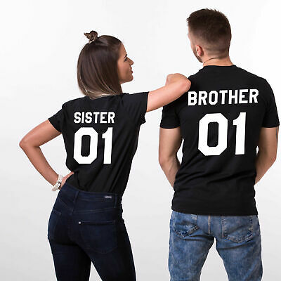 Brother's/Sister's Clothes T Shirt Number TEE Short Sleeve Polyester S-4XL