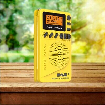 Portable Pocket Personal DAB/DAB+ FM Digital Radio Rechargeable Battery Yellow