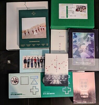 BTS 4th Muster/ESSAY BOOK/Live Trilogy/memories JUNGKOOK/SUGA/V/JIMIN US seller