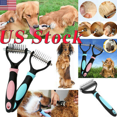 US Dog Brush for Shedding-Best Cat Grooming Comb Tools Hair Pet Trimmer Clipper