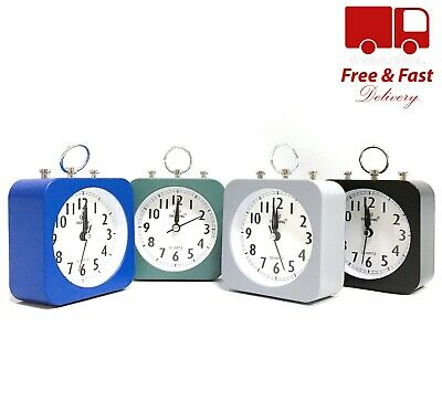 Modern Round Square Simple Table Bedside Snooze Alarm Clock Battery Operated UK