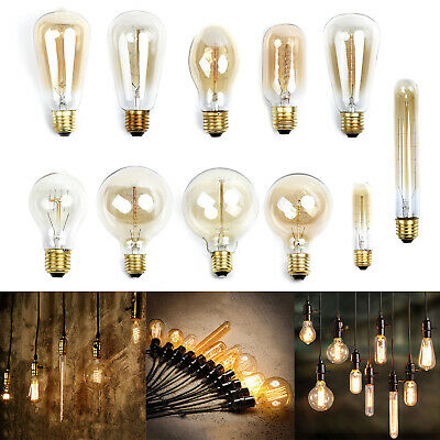 Vintage Retro Filament Edison Tungsten Light Bulb Antique Style Lamp E27 Durable