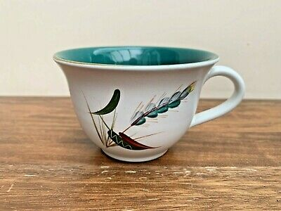 Denby Teacup, Greenwheat Pattern, 1950s, Single Cup