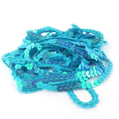 1 x 3m Continuous Length Blue 8mm Polyester Ric Rac Trim Sewing Jewellery Making
