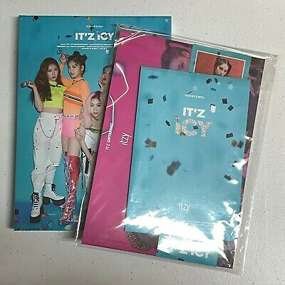 Itzy - It'z Icy CD+Photocard+Random Pre Order Benefit(Postcard+Sticker+etc..)New