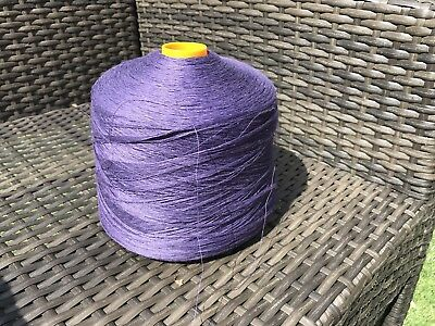 100% Linen Single Ply Yarn On Large 900 Gram Cone In Lavender