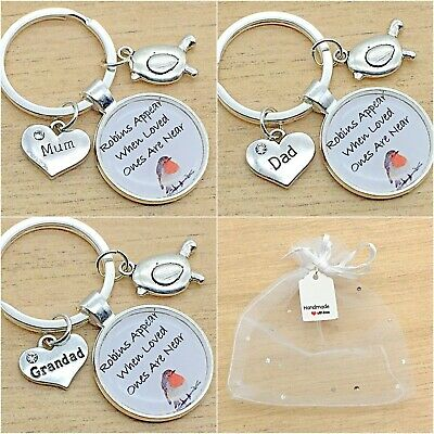 In Loving Memory Keyring. Angels Watching Over Me. Gift Bag. Mum. Dad.nanny