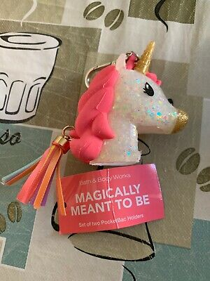 bath and & body works Pocketbac Holder Pocket Unicorn 🦄 MAGICALLY MEANT TO BE