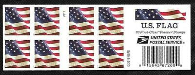 SCOTT 5160b FOREVER (49 CENT) US FLAG P1111 BOOKLET PANE OF 20 MNH FREE SHIPPING