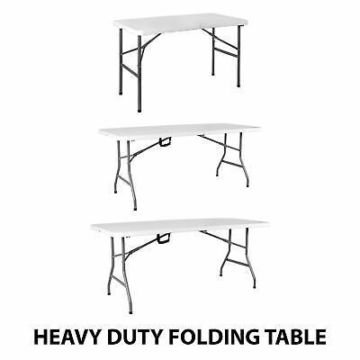 4 5 6ft Folding Table Heavy Duty Trestle Party Camping Picnic BBQ Stall Garden