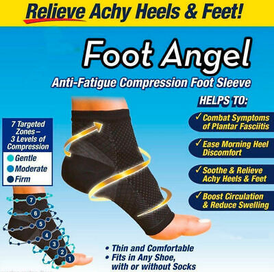 Foot Angel Compression socks Foot Sleeve Plantar Arthritis Sore Achy Heel Pain