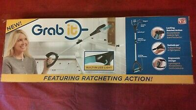 Grab It Ratcheting, Grabber, Reaching Aid, Reaching, Pick Up Tool Built in light