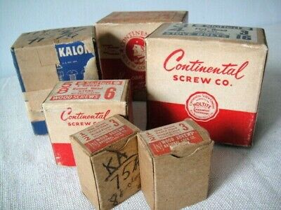Vintage Slotted Screws, Stove Bolts, Wood ~ 6 Boxes