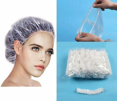 Disposable Shower Caps - 100Pcs Hair Processing Clear Plastic Caps For Spa Home