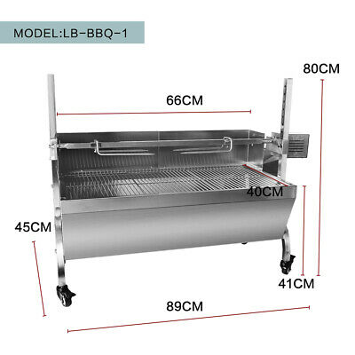 Stainless Steel Hog Roast Spit Roast Machine Rotisserie Charcoal  Lenght 66CM