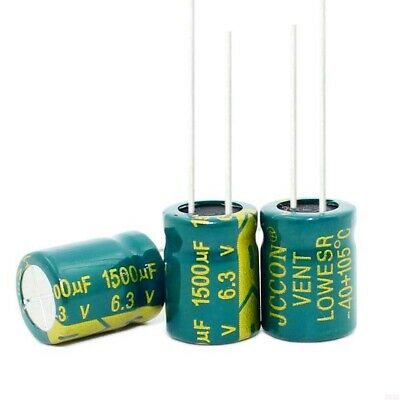 6.3V 1500uF High Frequency LOW ESR Radial Electrolytic Capacitors 105°C 10x13mm