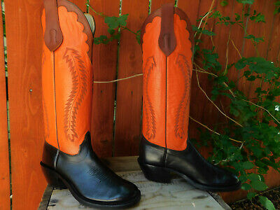 78ab72bee2d MEN'S OLATHE 12 B WESTERN COWBOY BOOTS two tone PRE-OWNED - $24.50 ...