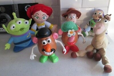 Toy Story 1 2 3 4 Woody Jessie Bullseye Buzz Mr Mrs Potato Alien Large Soft Toys