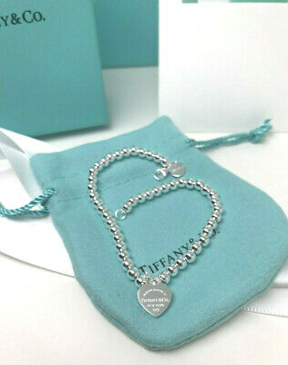 """925 Solid Sterling Silver 7.25"""" Bracelet Free Shipping With Bag Box Pouch"""