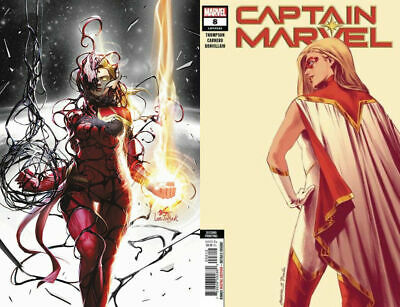 Captain Marvel 8 Virgin Exclusive 2nd Print Inyuk Lee Set Star 1st App