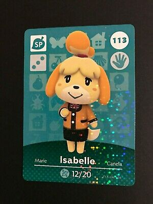 Isabelle 113 - Animal Crossing Amiibo Card - Series 2 - New Leaf 3DS Wii U NA