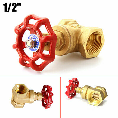 1/2'' Vintage Steampunk Stop Valve Light Switch For Water Pipe Lamp W/Red Handle