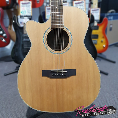 Timberidge TRFC-3L-NGL Series 3 Left Handed Acoustic Electric Guitar with Case