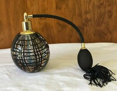 Murano Style Perfume Bottle & Atomiser Art Glass Glass In Glass VG Condition
