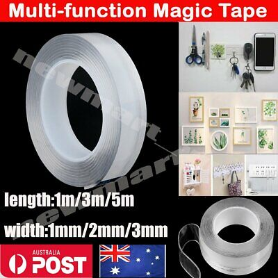 1/2/3MM Multi-Function Nano Magic Tape Transparent Reusable Traceless Fixed AU