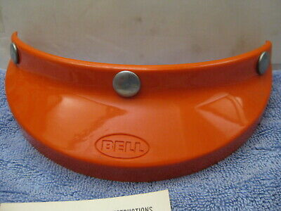Vintage Nos Bell Helmet Visor 3-Snap 520 Orange Mx Motocross Rt