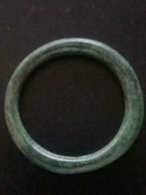 18mm Authentic Ancient CELTIC Bronze Ring Money Green Patina ~600 BC #31