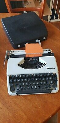 Olympia Portable Typewriter and Case: Made in West Germany (PLEASE READ)