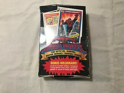 1990 Impel Marvel Universe Series 1 Trading Card Factory Sealed Box w/ 36 Packs