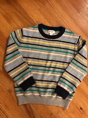 Cat & Jack Boys Size 5T Striped Long Sleeve Light Weight Sweater