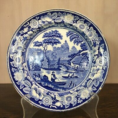 Middlebro' Pottery 'Wild Rose' blue printed plate, c. 1840