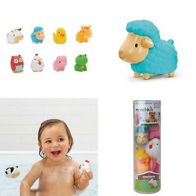 BEST Floating Farm Animal Themed Rubber Bath Squirt Toys For Baby Pack Of 8 GIFT