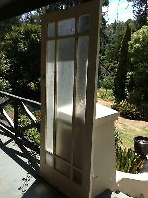 Retro/Vintage Solid Timber Exterior Door with Glass Panels