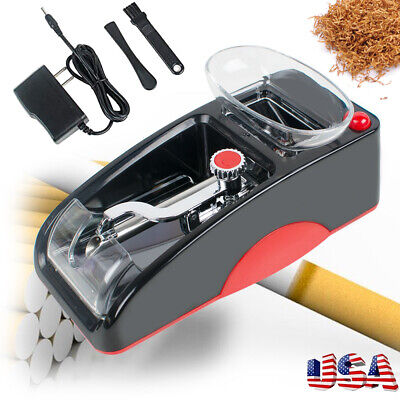 Automatic Cigarette Rolling Machine Electric Injector Tobacco Roller Maker Red