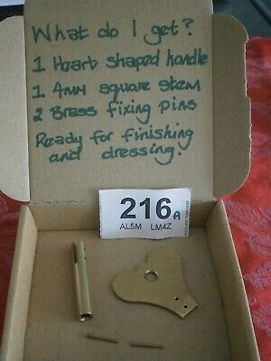 Clock KEY, Heart Handle kit 4mm Fusee wall mantle bracket movement parts 216A
