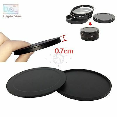 40.5 43 46 49 52 55 58 62 67 72 77 82 Protective Metal Case Cap For Lens Filter