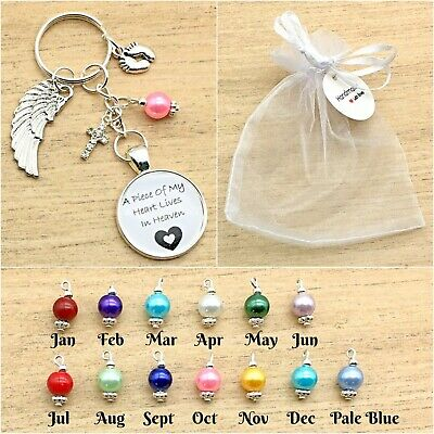 Baby Loss. A Piece Of My Heart Lives In Heaven Keyring. Memorial. Miscarriage
