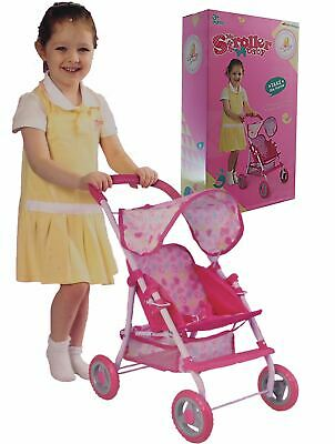 Sonia Baby Dolls Pink Pram Girls  Toy Buggy Pushchair Pram with swivel wheels