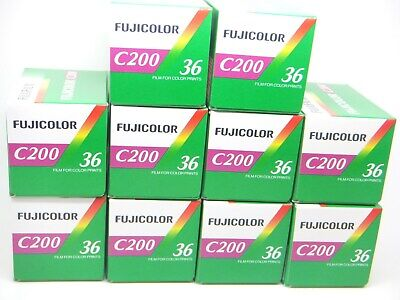 10 x FUJICOLOR C200 35mm 36exp CHEAP COLOR PRINT FILM by 1st CLASS ROYAL MAIL
