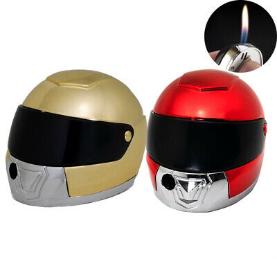 Cool Lighter Creative Helmet Flame Gas Mini Lighters Funny Collection Cigarette