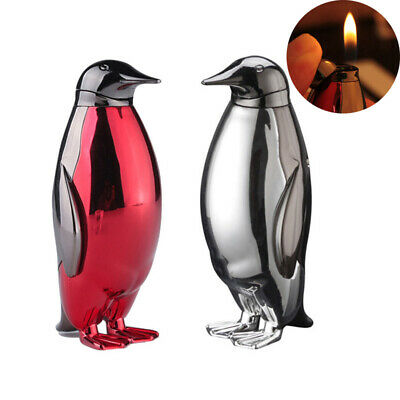 Lovely Mini Gas Lighter Creative Penguin Personality Lighters Butane Flame NEW